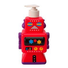 Robot Soap Dispenser Red, £12.90, now featured on Fab.