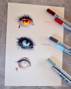 Dark Creatures by Lighane.deviantar… on Dark Creatures by Lighane. Cool Art Drawings, Beautiful Drawings, Art Drawings Sketches, Eye Drawings, Drawing Eyes, Hipster Drawings, Manga Drawing, Art Illustrations, Figure Drawing