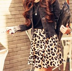 Beautiful leopard print skirt, and the rest of the outfit is amazing too Mode Rock, Leopard Print Skirt, Cheetah Print, Leopard Prints, Blazers, Fashion Beauty, Womens Fashion, Printed Skirts, Swagg
