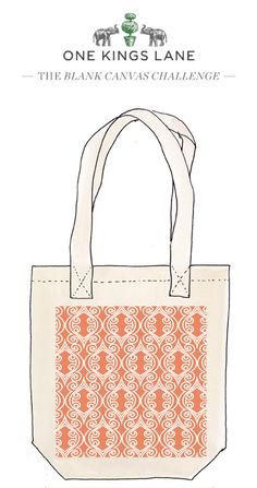 Sarah Green created this tote bag design as part of our Blank Canvas Challenge, cast your vote by pinning it!