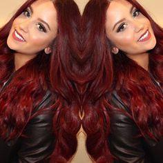 red hair garnet - Google Search , #redhair #redhaircolor #redhairstyles Bright Red Hair, Dark Red Hair, Burgendy Hair, Purple Hair, Red Hair Inspiration, Rose Violette, Auburn Hair, Hair Color For Black Hair, Hair Dos