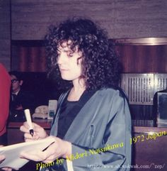 Marc Bolan on tour in Japan, 1972.