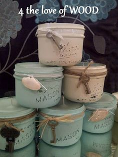 Use Mason jars for homemade candles-4 the love of wood: MAN MADE CANDLES AND LADY LIKE FURNITURE
