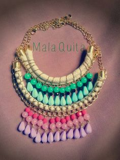 Two beautiful necklaces #colorfull https://www.facebook.com/MqAccesorios