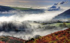 A misty morn in Neath Port Talbot, a county borough in south Wales