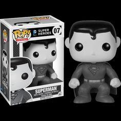 Funko POP! Heroes SUPERMAN Black and White Series #07 Vinyl Figure