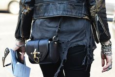 Roughed up outfit + the #Givenchy Obsedia messenger bag = hot and badass.