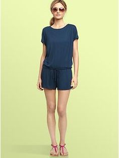 GAP Cacoon Romper swim cover up. rarely see a sleeve version.  I want for the pool.
