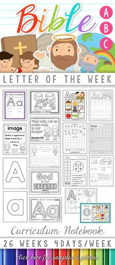 Bible ABC Letter of the Week Curriculum Notebook