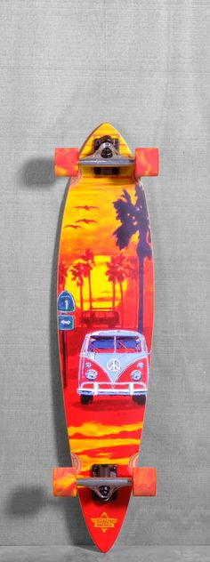 "Adore the Van, love the wheels...Dusters 39"" Highway One Longboard Complete"