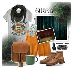 """""""60 Second Style: Camp Ewok"""" by cara-mia-mon-cher ❤ liked on Polyvore featuring GALA, J.Crew, Jil Sander, OPI, Casetify, canvas, summercamp and 60secondstyle"""
