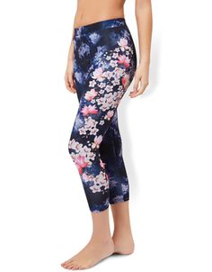 Lotus Floral Print Leggings