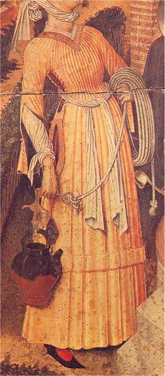 Cristo y la Samaritana, Bernat Martorell, 1445-1452, Museo Nacional de Arte de Cataluña, Barcelona (detalle)