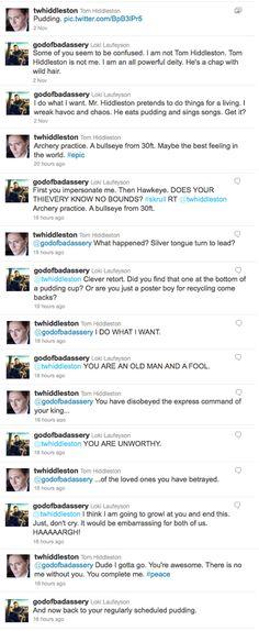 Loki vs. Tom Hiddleston Twitter Battle | Geeks are Sexy Technology News