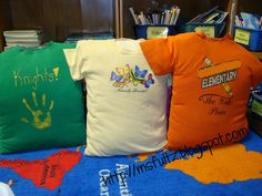 Stuff old t-shirts with pillows to create a nook for a reading library. Stuff old t-shirts with pillows to create a nook for a reading library. Classroom Setup, Classroom Design, Future Classroom, School Classroom, Classroom Libraries, Classroom Reading Nook, Daycare Design, Classroom Schedule, Classroom Hacks