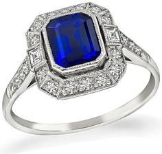 1491ecc9cb4e Emerald-and-onyx Panthère ring by Cartier. Octagonal step-cut sapphire