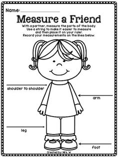 Here's a measurement activity where students measure their