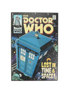 Doctor Who Comic TARDIS Lighted Wood Wall Art | Hot Topic