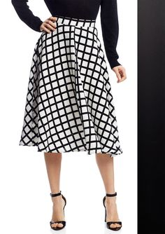 On ideel: RENAMED Printed Fit-and-Flare Skirt