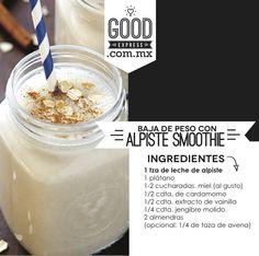Alpiste smoothie-Baja de peso - La leche de alpiste es sumamente nutritiva, reduce la aparición de la celulitis y ayuda a la baja de peso. Recomendada para personas propensas a la Diabetes ya que regula los niveles de azúcar en la sangre. PRUÉBALA en esta deliciosa receta de smoothie.