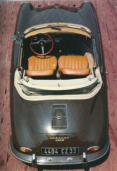 frenchcurious:  Porsche Cabriolet 356B 1600