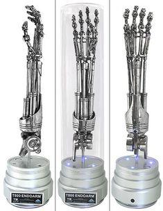 Robotic Terminator Arm T 800 Maya 3d Model Ambient