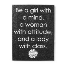 Woman with Attitude Glitter Wall Canvas
