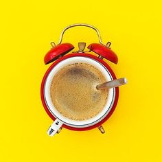 Happy Friday! Here's a clever #design that combines coffee and waking up.