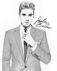 Justin Bieber Sketch, Justin Bieber Quotes, I Love Justin Bieber, Cool Art Drawings, Realistic Drawings, Pencil Sketching, Pencil Art, Pencil Drawings, Japanese Tattoo Symbols