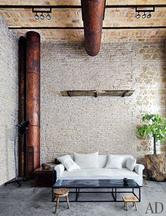 Citizen hems - exposed brick walls loft interiors, industrial interiors, in Industrial House, Industrial Interiors, Industrial Chic, Industrial Design, Inspiration Design, Interior Inspiration, Architectural Digest, Style At Home, Interior Exterior