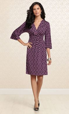 Love Knot: #Soma Knotted Empire Dress in Admire Print #SomaIntimates #fallfashion