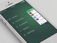 WhatsApp iOS 7 Redesign #menu