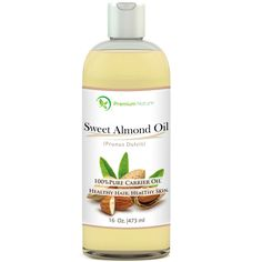 Sweet Almond Oil 16 oz - Carrier Oil, Cleansing Properties, Evens Skin Tone, Treats Irritated Skin, Nourishes, Moisturizes and Prevents Aging- By Premium Nature *** Wow! I love this. Check it out now! : SkinCare blackheads