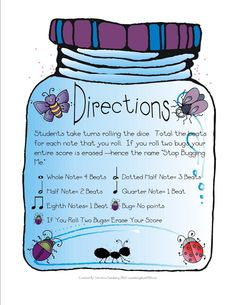 Great blog for elementary, primary school music activities Made for Music Teachers: Bug Me