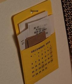 Receipt Organization... Articles of Enchantment: Pocket Calendar