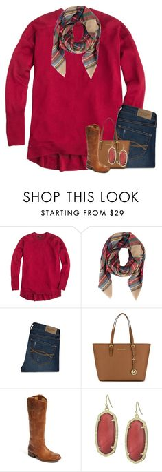 """""""Where there is love, there is life"""" by your-daily-prep ❤ liked on Polyvore featuring J.Crew, Armitage Avenue, Abercrombie & Fitch, MICHAEL Michael Kors, Frye and Kendra Scott"""