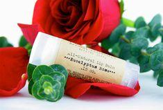Bulk All-Natural Eucalyptus Rose Lip Balms  Customer by Treesnail