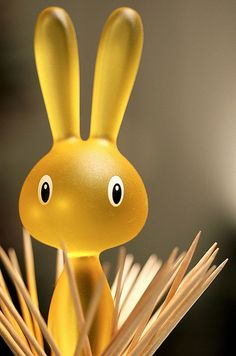 magic bunny, toothpick holder, design: stefano giovannoni for alessi