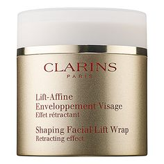 Relieves fluid retention and enhances facial contours  Shaping Facial Lift Wrap - Clarins | Sephora