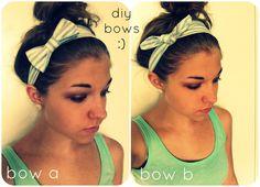 diy bow headbands