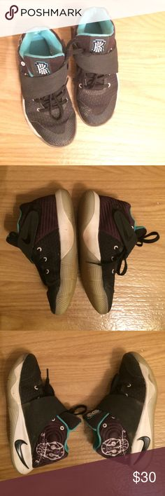 Boys Nike Kyrie Irvine sneakers Boys Nike high top sneakers • Kyrie Irving style • decent condition - TONS of life left • soles intact • Sz 13c • fast same/next day shipping Nike Shoes Sneakers