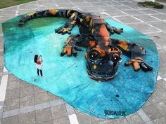 Portuguese Street Artist Creates These Fantastic Artworks By Using A City Garbage