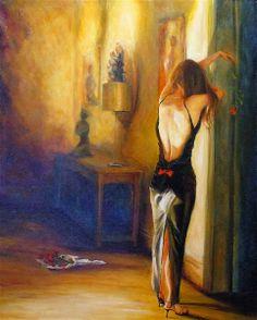 Karen Wallis | Female Figurative Painter | Waiting for you