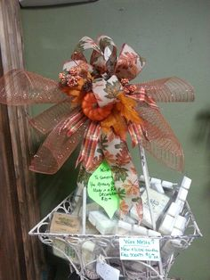 Wire this Fall Decoration onto something you already own! $10 Big BuzzUrd Trading Company, 17153 NE 23rd Choctaw OK