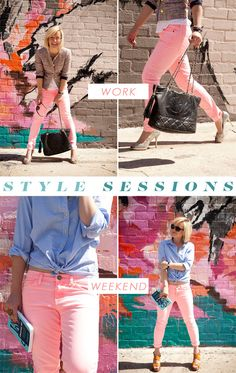 Style Sessions: Pink Jeans, Two Ways (with Jen Pinkston) I like the tope one better but both are cute