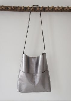The Alesia  Soft Leather Bag  Hand Sewn  Gun por stitchandtickle