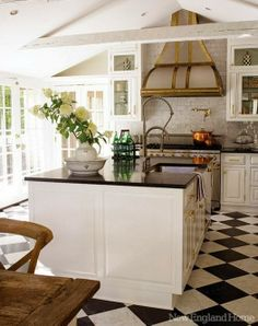 simply vintageous...by Suzan: Checker Board Kitchen Floor Ideas