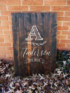 Reclaimed Personalized Family Name Sign Rustic by RusticallyWell #reclaimed #family #established