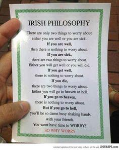 Irish Philosophy...