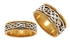 Our ladies 'Wisdom' Celtic ring, and matching gents 'Strength' Celtic ring Celtic Wedding Rings, Celtic Rings, Class Ring, Ireland, Strength, Rings For Men, Wisdom, Engagement Rings, Lady